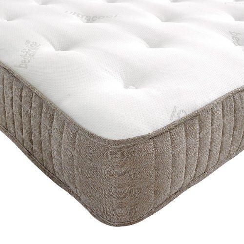 Matelas Bedzonline simple avec mousse à mémoire - couverture maxi-cool - couleur crème - 140cmx190cm - Livraison gratuite
