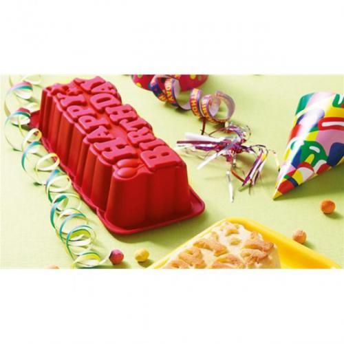 """Moule à gateau pour enfants """"Happy Birthday"""" Pyrex 912S570/5048"""