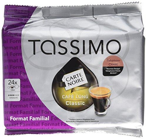 Tassimo T-Disc Carte Noire Café Long Classic Tripack 24 Dosettes de 156 g - Lot de 3