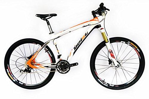 BEIOU Carbon fiber Mountain Bike complete bike MTB bike BOCBM05 / La fibre de carbone de vélo de montagne vélo complet VTT vélo BOCBM05 (orange, 19'')