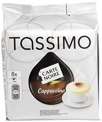 Tassimo T-Disc Carte Noire Cappuccino 16 Dosettes de 267,2 g - Lot de 5