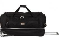 Sacs de voyage à roulettes magnum double compartiments noir de la marque Rodier