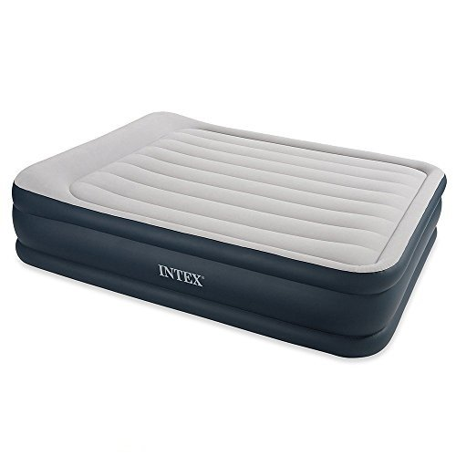 Intex - 67738 - Ameublement et Décoration - Lit Gonflable - 2 Places Larges - Rest Bed Gonfleur Intègre - 220 volts