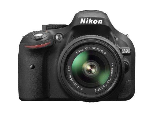 Nikon D5200 Appareil photo numérique Reflex 24.2 Kit Objectif 18-55 mm DX VR II Noir