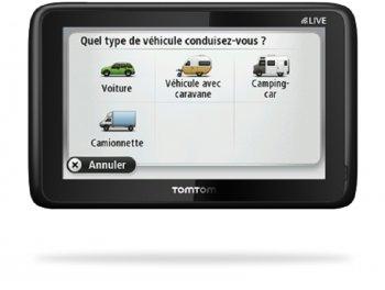 GPS TOMTOM GO LIVE CAMPER ET CARAVAN