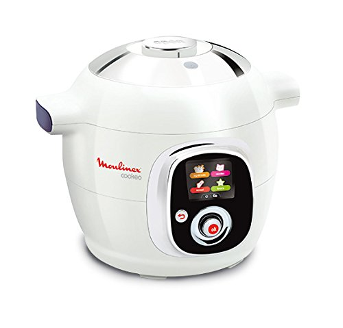 Moulinex CE704110 Intelligent Cookeo Multicuiseur avec 100 Recettes Blanc/Finition Chromé