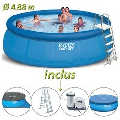 Piscine autoportante Easy Set Intex ronde Ø 4.88 x 1.22 m
