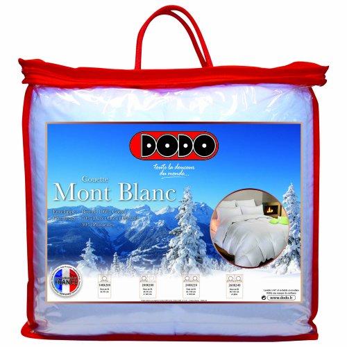 Dodo Couette Naturelle Mont Blanc Percale 70% Duvet d'Oie et de Canard  240 x 220  cm