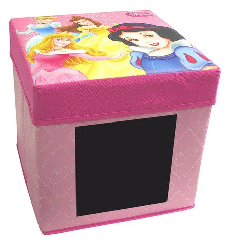 tabouret coffre a jouet boite de rangement ardoise enfant fille princesse disney prix 18 04. Black Bedroom Furniture Sets. Home Design Ideas