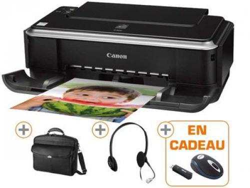 PACK : Imprimante couleur Jet d'encre / USB - Canon   Casque Informatique Stéréo - Trust   Souris Optique sans fil pour PC portable OFFERTE..