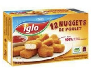 2 paquets de 12 nuggets Iglo gratuits