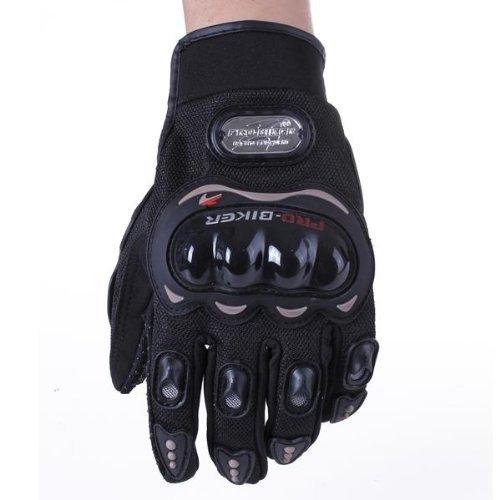 Paire Noir Gants Doigt Complet Protection L Moto Vélo Sport Femme Homme