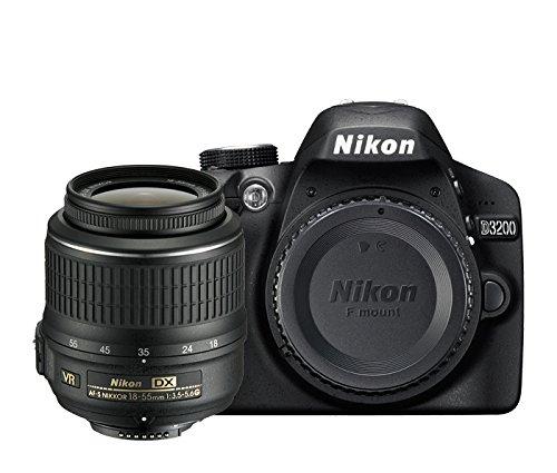 Nikon D3200 Appareil photo numérique Reflex 24.2 Kit Objectif AF-S DX VR II 18-55 mm Noir