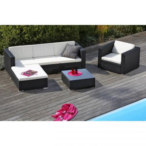 salon de jardin en r sine tress e goa prix 399 99. Black Bedroom Furniture Sets. Home Design Ideas