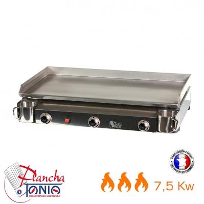 Plancha gaz plaque inox triad 15 30 pers 3 br leurs for Plancha plaque inox gaz