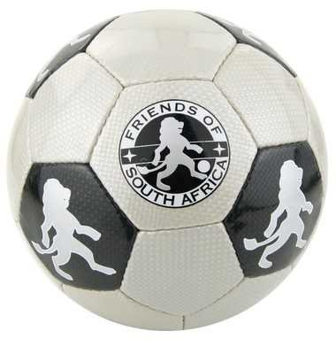 Ballon de football gris et noir carbone