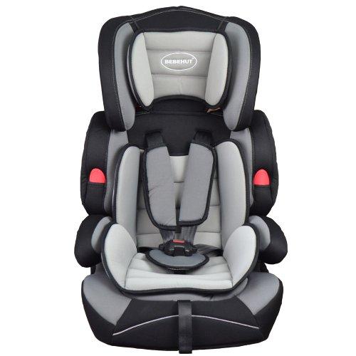 BEBEHUT Siège auto enfant avec appuie-tête et coussin gris / noir BAB001-H03