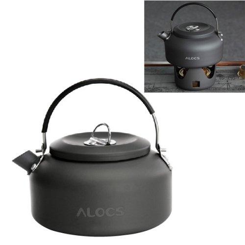 Alocs Cw-K02 Extérieure Bouilloire Théière 800Ml De Camping Pique-Nique Café D'Eau En Aluminium Pot