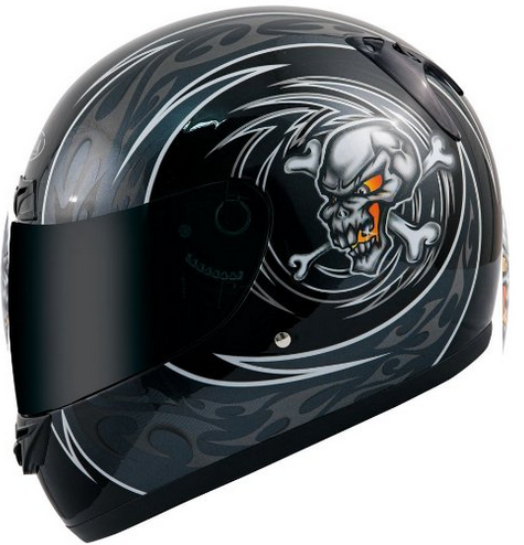 Akira 26115 Casque Moto Intégral Kitami, Noir/Noir, XL