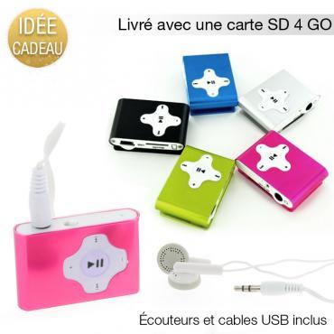 Lecteur MP3 avec carte micro SD 4 Go