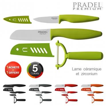 coffret couteaux cramique 2 1 pradel 1 achet - Coffret Couteau Ceramique