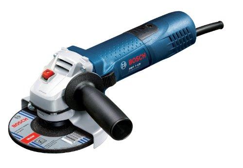 Bosch Meuleuse angulaire GWS 7-125 Professional avec capot de protection, clé à ergots, écrous de serrage rapide, flasque de serrage et poignée supplémentaire 0601388102
