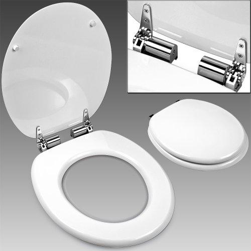 Abattant WC Couvercle frein de chute SlowClose blanc - lunette de toilette - cuvette de toilette WC