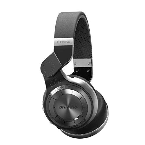 Bluedio T2 (Turbine 2) Bluetooth stéréo Casque sans fil Bluetooth 4.1 écouteur la série d' Ouragan Circum-Auriculaire Casque (Noir)
