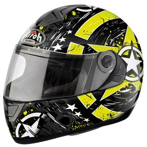 CASQUE ASTER X SKULL YELLOW AIROH NEW 2015 SIZE S