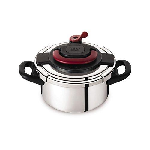 Autocuiseur SEB Clipso   P4360600 4,5 L : 1 à 4 personnes - 2 programmes de cuisson - Panier vapeur - Ouverture/fermeture d'une seule main - Tous feux dont induction