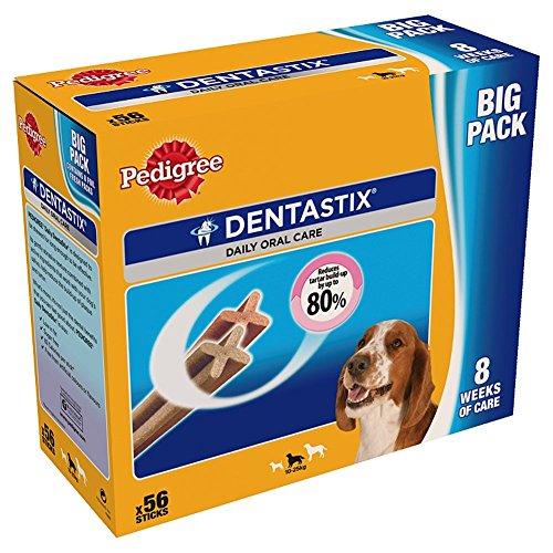 Pedigree Dentastix pour Moyens Chiens 56 Bâtonnets à Mâcher en Boîte 1440 g