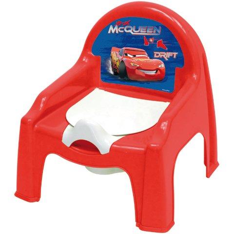 Chaise petit pot de chambre bébé Cars Disney Dimension 30 cm x 30 cm x 35 cm Plastique