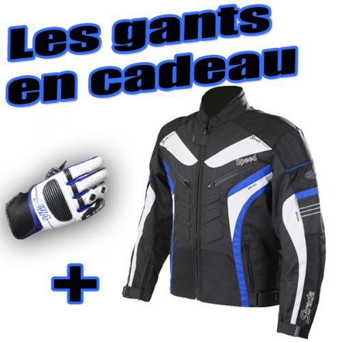 Blouson moto  STRADA   une paire de gants offert   un code promo de -15%