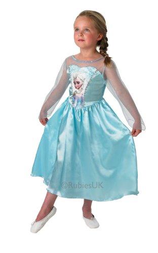 Rubie's 889542L Elsa Frozen - La Reine des Neiges - deguisement Disney Robe - 7-8 ans