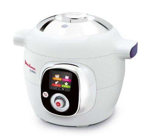 Multicuiseur Intelligent Moulinex Cookeo CE7011 - Cuisson rapide sous pression - Cuve 6L pour 1 à 6 personnes - Guide culinaire interactif et écran digital