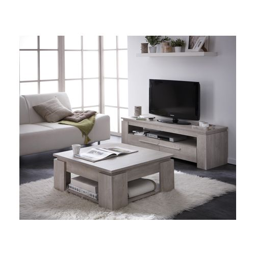Table basse segur banc tv 140cm segur prix 189 90 for Table basse et meuble tv
