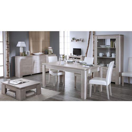 Ensemble Segur 5 éléments avec Enfilade   table basse   table à manger   Vitrine Ségur