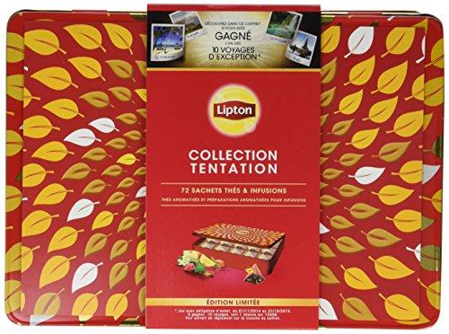 Lipton 72 Sachets de Thés et Infusions Coffret Cadeau Boîte Métal