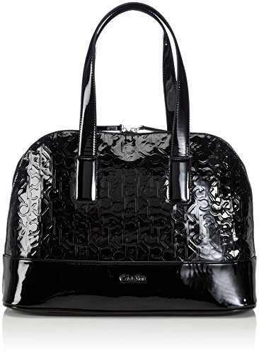 Calvin Klein Jeans Maggie 2 Large Satchel, Sacs portés main femme - Noir (Blac), 38x27x14 cm (B x H x T)