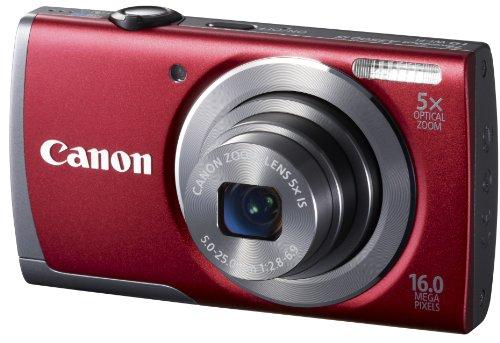 Canon Powershot A3500 IS Appareil photo numérique 16 Mpix Ecran 7,5 cm USB WiFi Rouge