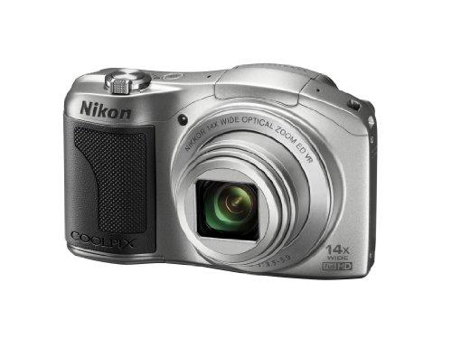 """Nikon Coolpix L610 Appareil photo numérique compact 16 Mpix Ecran 3"""" Zoom optique 14x Argent"""