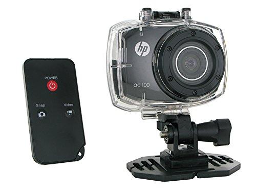 HP AC-100 Caméra Full HD 1080p 5 Mpix avec Télécommande   Ecran tactile   Caisson étanche Noir 005623