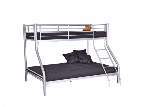 lit superpos gris bibop 3 90x190 cm et 140x190 cm prix 161 74. Black Bedroom Furniture Sets. Home Design Ideas