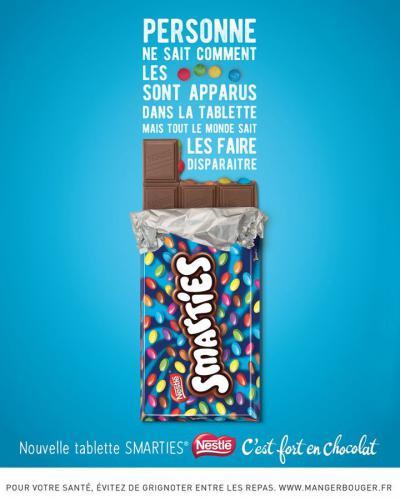 Nouveauté SMARTIES tablette de chocolat