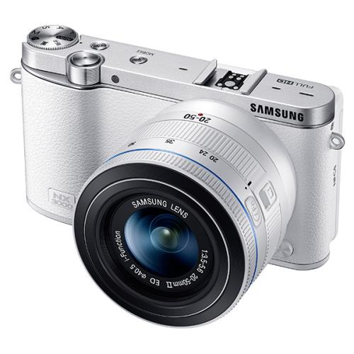 Hybride Samsung NX3000   Objectif 20-50 MM Blanc