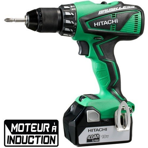 Hitachi perceuse viss. percu. 18v li-ion 2x4ah - dv18dbel 4a