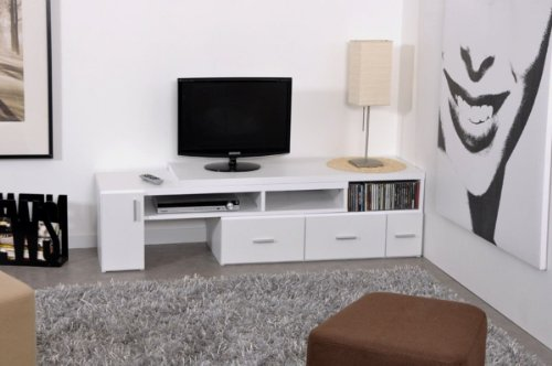 Meuble TV extensible Blanc