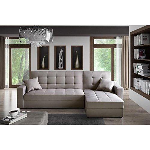 hampton canap d 39 angle convertible r versible 4 places 224x170x86cm gris prix 427 95. Black Bedroom Furniture Sets. Home Design Ideas