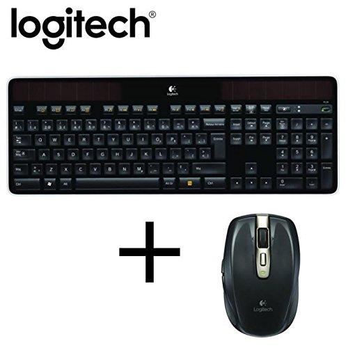 logitech clavier sans fil k750 souris laser sans fil. Black Bedroom Furniture Sets. Home Design Ideas