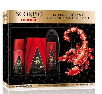 SCORPIO - Coffret 3 produits - Rouge - Eau de toilette flacon 75ml , Gel Douche 250ml & Déodorant atomiseur 150ml